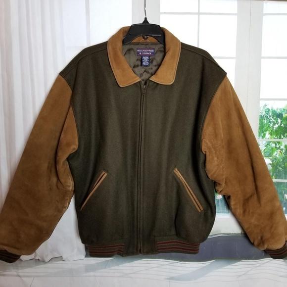 fe7286e08 Roundtree & Yorke Two-Tone Varsity Jacket Zip-Up